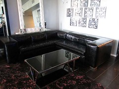 "4188 BLACK CROCODILE PATENT LEATHER SECTIONAL SOFA & 4146 COFFEE TABLE • <a style=""font-size:0.8em;"" href=""http://www.flickr.com/photos/43749930@N04/5743798573/"" target=""_blank"">View on Flickr</a>"