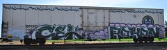Cek, Reken (nunya...nunyabusiness) Tags: art train graffiti paint icicle spraypaint bnsf cek reken knf
