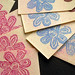 pink and blue glitter tags