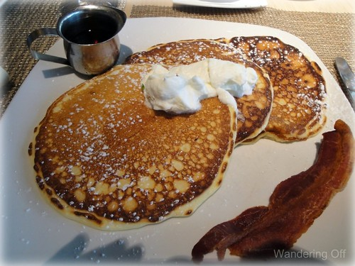 Meyer Lemon and Ricotta pancakes at The Grove, Houston