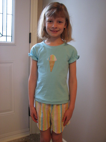 Ice Cream Cone Top and Shorts