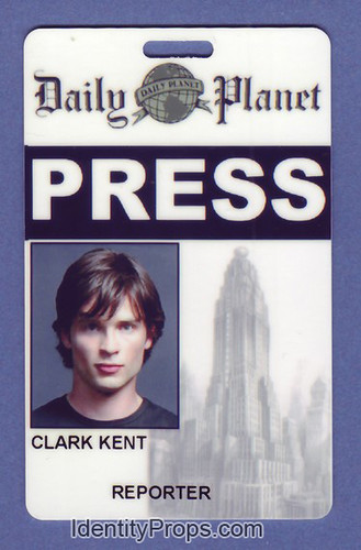 graphic about Clark Kent Press Pass Printable called Flickriver: pss illustrations or photos tagged with idcard