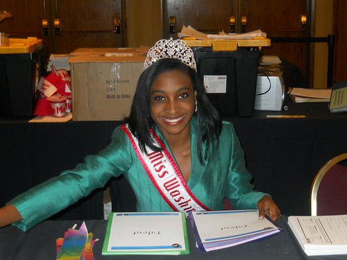NAMiss Washington Imani Blackmon at the NAM Oregon Pageant