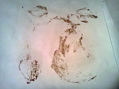 gelatin monoprint - ghost