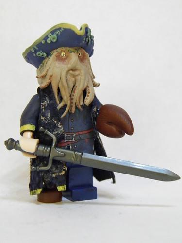 Custom minifig Davy Jones