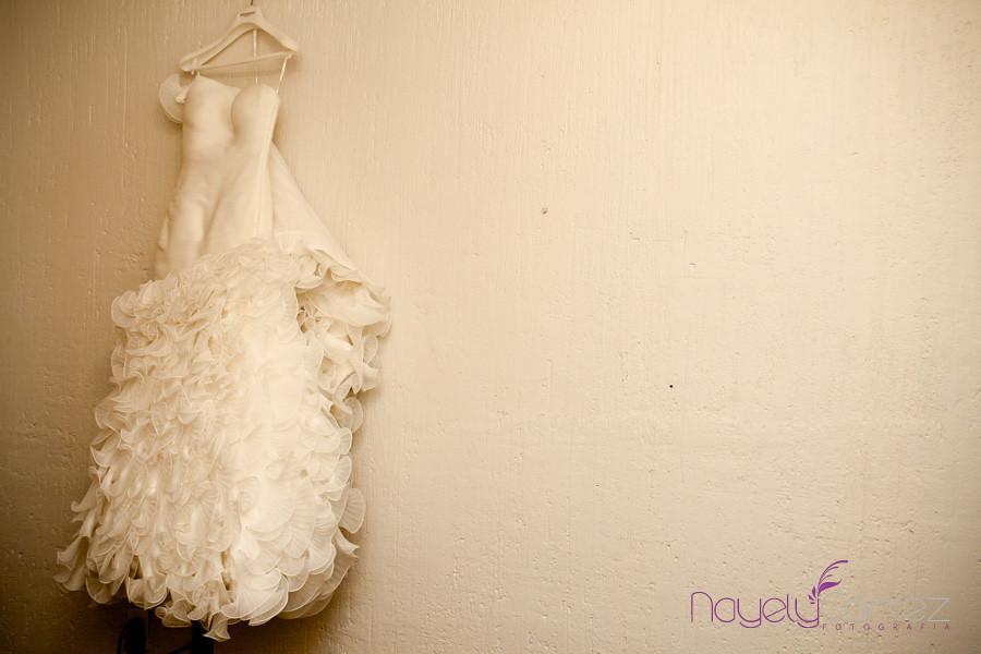 Fotografia de vestido de novia