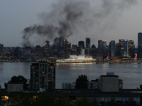 Vancouver Fires after the Canuck's loss to the Bruins