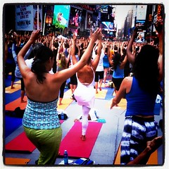 Yoga in times square?