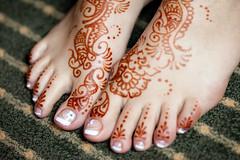 Shazia mehndi feet