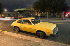 '80 Pinto (Curtis Gregory Perry) Tags: portland oregon 1980 ford pinto car yellow automobile classic old flammable night longexposure pdx northwest light traffic nikon d800e