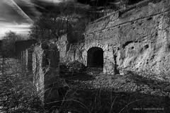 Moon rock (fabio c. favaloro) Tags: biancoenero bn pb bwbnw ruins italy ardea decay rovine nikon d800 nikkor2035