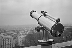 Montmarte view (reddleman01) Tags: travel bw paris france film kodak trix olympus diafine sacrecour 35rc