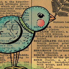 !940s Dictionary bird 2