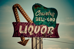 Country Liquor (TooMuchFire) Tags: signs vintage neon powerlines liquor baldwinpark neonsigns lightroom arrowsigns oldsigns vintagesigns sangabrielvalley vintageneonsigns liquorstores canon30d oldneonsigns countryliquor toomuchfire 12744ramonablvdbaldwinparkca