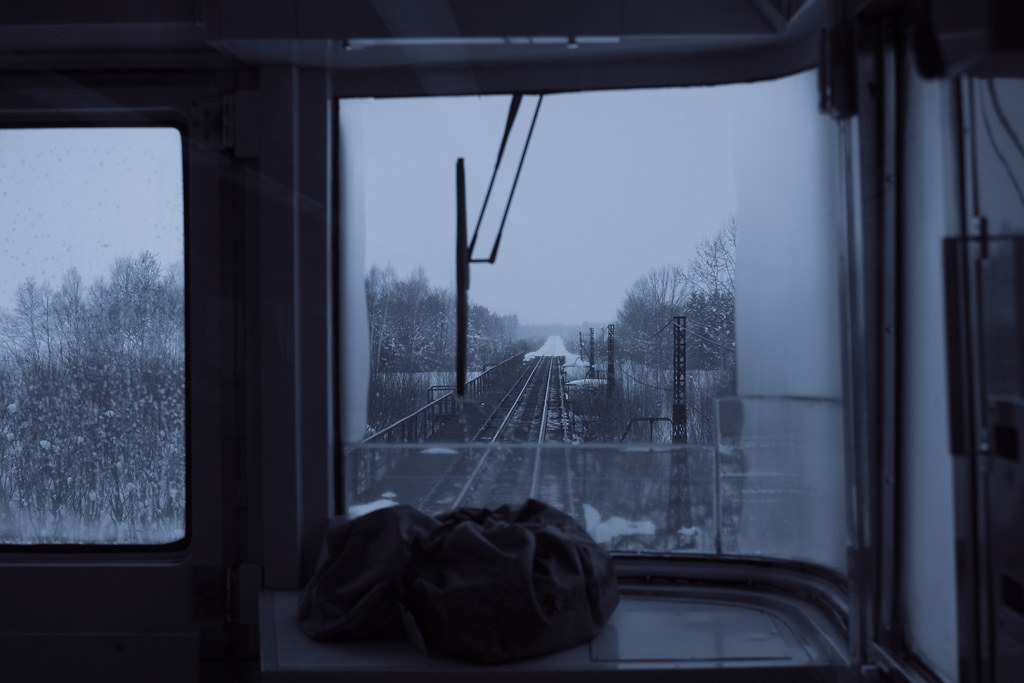 "the front train window of Limited Express ""Sarobetsu"" #5"