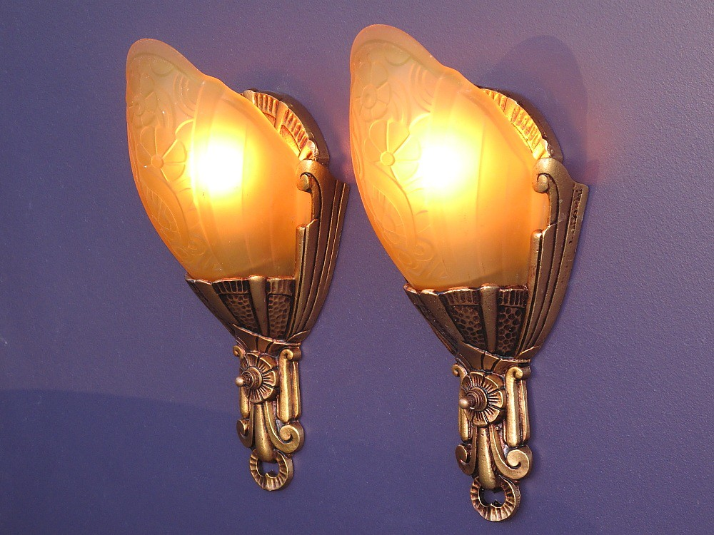 Lincoln Slip Shade Sconces vintagelights.com