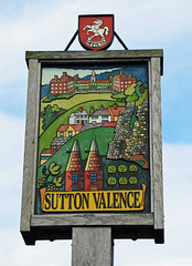 Sutton Valence Village Sign (Louise and Colin) Tags: uk england english kent village britain british northdowns smalltown manorhouse weald oasthouse suttonvalence villagesign gardenofengland kentinvicta