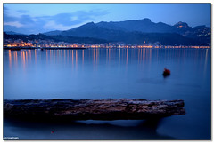 Giardini Naxos - Twilight reflexs (ciccioetneo) Tags: blue italy speed photography twilight nikon long exposure italia slow view angle wide sigma filter hour nd shutter sicily 1020mm grad sicilia messina naxos giardini cokin gnd p121 giardininaxos nd8 d7000 ciccioetneo