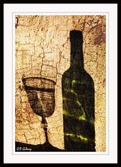 shadow and textured overlay (P.Gibney) Tags: glass shadows overlay stillife textured
