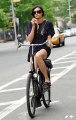 famke jansen on bike