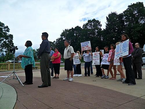 AIDS Advocates Rally at Iowa Capitol