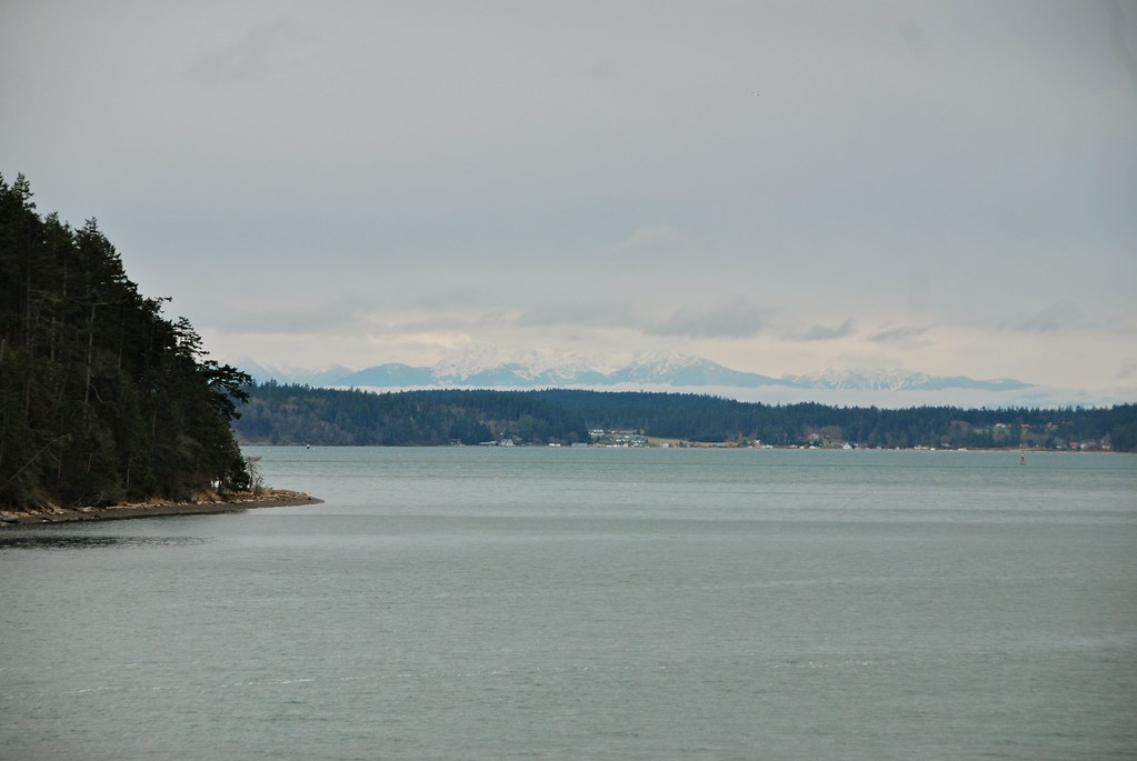 View of the Olympics outside Friday Harbor