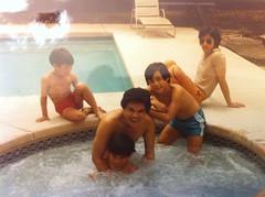 Uncle Oscar w Ricky, Mel, Ryan, Ricky Ong 1983