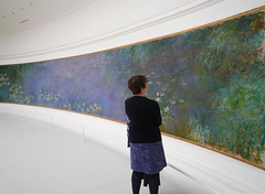 "Claude Monet, ""Les Nymphéas,"" Matin with Viewer"