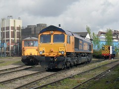 73209 66714 and 08925 at Tremorfa Works Cardiff. (martin289) Tags: industrial cardiff locomotives railscape tremorfa gbrf 66714 73209 railview april2011 railscene 08925 martin289 griffinimages