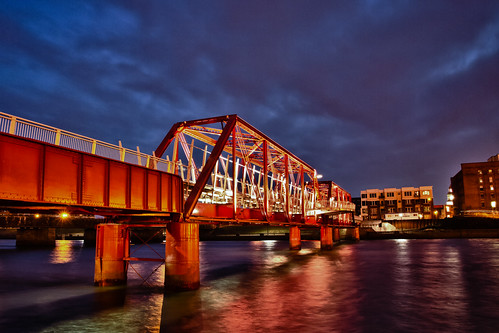 Pedestrian Bridge HDR - Des Moines, Iowa (Project 50/50 - Week 16)