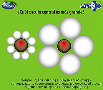Ilusiones - Cuál círculo central es más grande