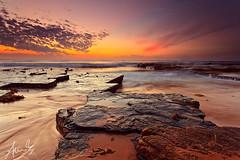 Turimetta Dawn Colours (sachman75) Tags: longexposure sea water clouds sunrise dawn sand rocks waves colours firstlight northernbeaches 1740mmf4 turimettabeach 5dmark2 canon5dmarkii singhrayreversendgrad darylbensonreversendgrad