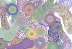 Immagine astratta con cerchi