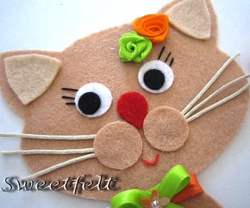 ♥♥♥ Viram o meu gato por aí? by sweetfelt \ ideias em feltro