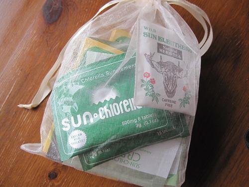 Sun Chlorella Product Sample Gift Bag