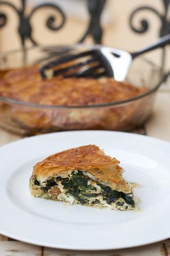 Torta salata con feta e spinaci