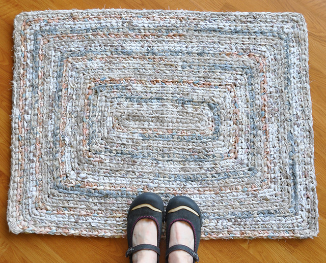 Rocky Beach Crochet Rug