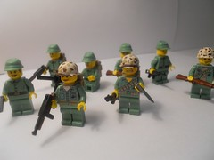 US Marines WIP (~[MiniFigMan]~) Tags: lego wwii marines brickarms