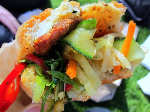BBQ Pork Banh Mi: Lemongrass infused pork loin with daikon and coriander