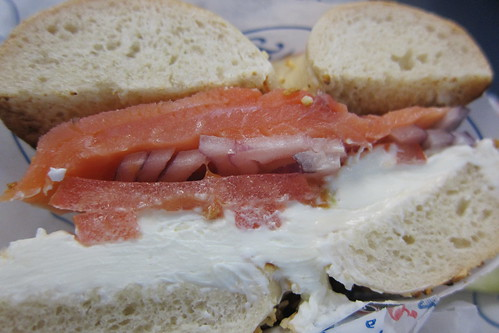 Brooklyn Water Bagel Company: Lox & Cream Cheese Sandwich