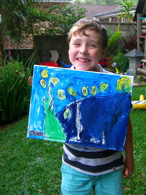Luca with his Starry Night