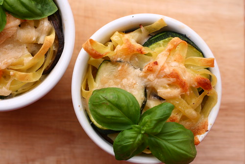 Nudelauflauf mit Parmesan-Sahne