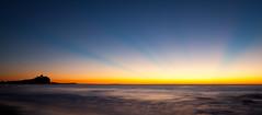Sunrise at Nobbys (Kath W.) Tags: longexposure sky sun lighthouse seascape beach water silhouette newcastle landscape australia nsw nobbys 110413nobbys