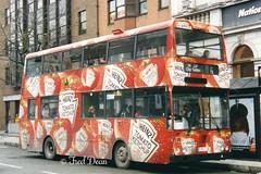 Bus Eireann KD184 (184JZL). (Fred Dean Jnr) Tags: cork bombardier heinztomatoketchup buseireann march1998 alloverad kd184 buseireannroute206 southmallcork