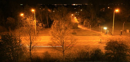 Warrington at night.