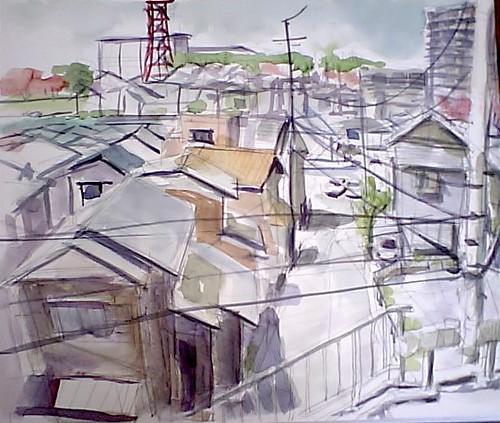 Sakuragaoka town view