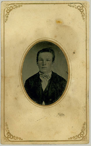 Young man with bow tie