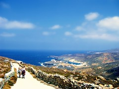 Still Reminiscing: The Road to Fokos Beach (FlipMode79) Tags: road blue beach clouds greek day path horizon clear greece dirt horseback rockwall cyclades mykonos hcs aegeansea regionwide fokosbeach flipmode79