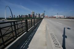 St. Louis (Michael Shoop) Tags: bridge usa skyline river cityscape arch stlouis missouri gatewayarch mississippiriver saintlouis edwardjonesdome eadesbridge stlouisrams michaelshoop