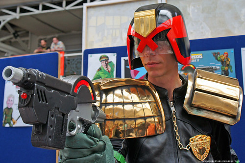 Kapow! Comic Con : Termight Replicas Booth Judge Dredd memorabilia by Craig Grobler